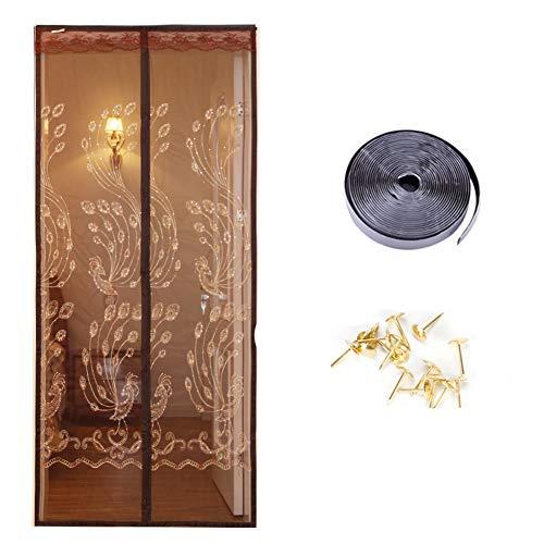 KE & LE Estilo Chino Anti-Mosquito Anti-política De Privacidad Puerta De Pantalla, Magnética Chino Dormitorio Sala Cocina Baño Cortina De Partición-c W:70cmxh:200cm