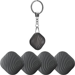 Nutale Bluetooth Key Finder, 4-Pack Tracker Item Locator met sleutelhanger voor sleutels huisdier portefeuilles of rugzakk...
