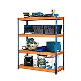Racking Solutions - Estantería / Estante del garaje/ Sistema de almacenamiento de acero, cargas pesadas, capacidad de carga total 1600kg (4 niveles 1800mm Al x 1500mm An x 450mm Pr) + Envío gratis