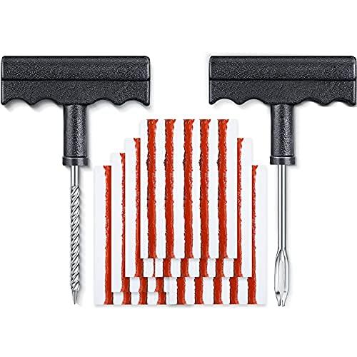 33 piezas de reparación de neumáticos enchufe sin cámara reparación de neumáticos kit de enchufe de neumático auto kit de reparación de neumáticos de coche cuerdas de goma herramienta de enchufe