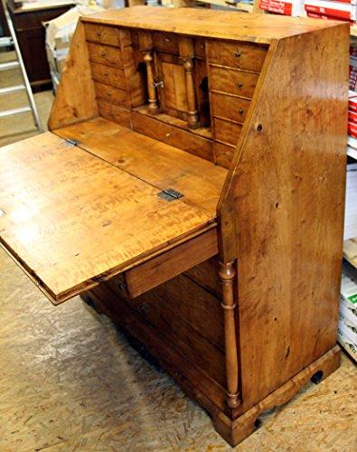 KAFKA-ANTIK Wunderschöner seltener Sekretär GRÜNDERZEIT BIRKE 1840, restauriert