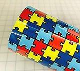 12' x 15' Jigsaw Autism Pattern Heat Transfer Vinyl (HTV) for T-Shirt Crafts