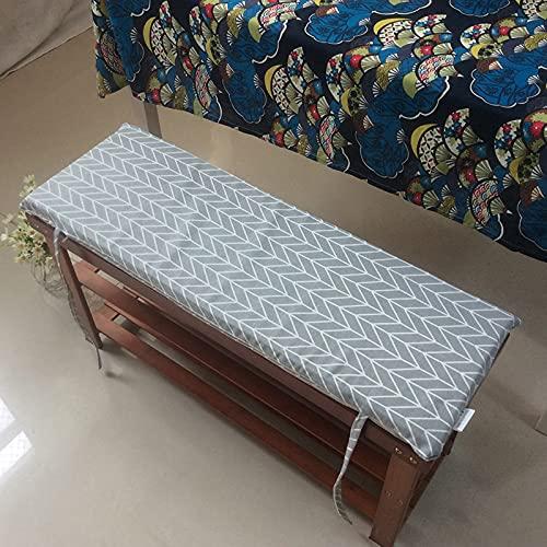 LXX Cojín de Tumbona Patio Bench Cushion Interior Asiento al Aire Libre Almohadillas Colchón Reclinable Sofá Tatami Tatami Rocking Silla Cojines,a,30x120cm(12x47inch)