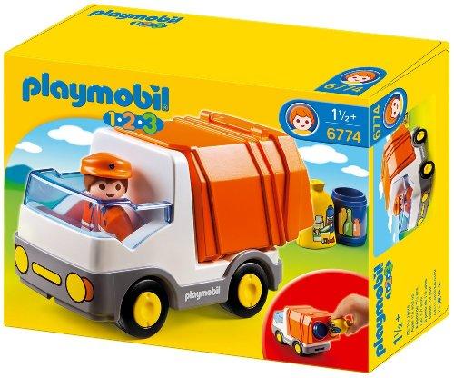 PLAYMOBIL 1.2.3 - 6774 - Camion poubelle
