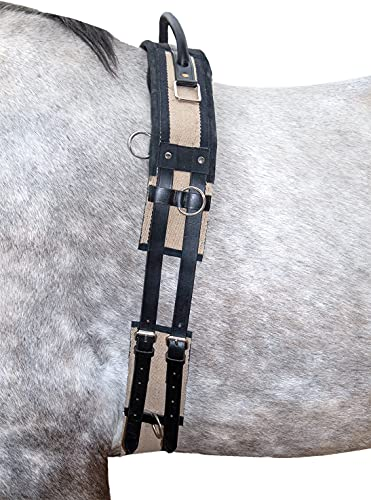 HKM 1795 Longiergurt mit Haltegriff, Gurt Longieren, Canvas, Pony
