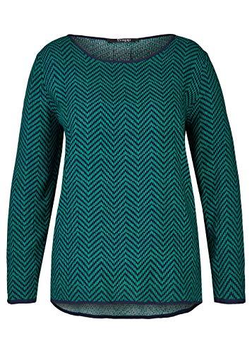 Frapp Damen Modische Bluse mit getupftem Zick-Zack-Muster
