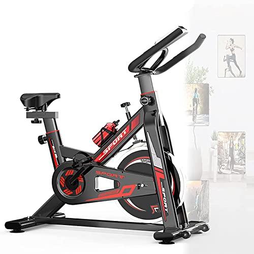 Bicicleta De Spinning Bicicleta Indoor De Volante De Inercia Ultra Silencioso Aptitud Bici,6 Kg Manillar Y Asiento Ajustable Rastrales Incluidos,hasta 150 Kg