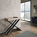 Group Design Diago Table console extensible, moderne, en chne naturel - Fabrique en Italie - Pour 14 personnes
