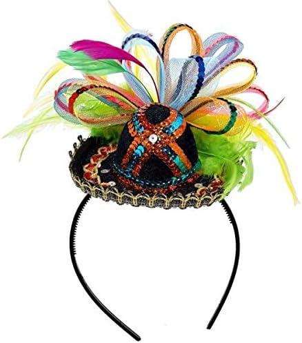 amscan Cinco De Mayo Black Sequined Sombrero Headband | Party Accessory
