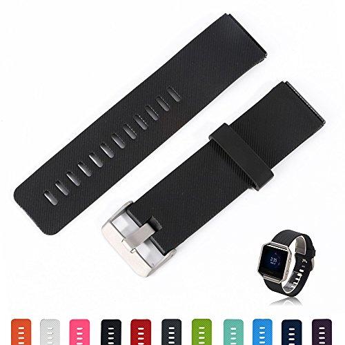 Fitbit Unisex Fitness Uhr Blaze Uhrenarmband - iFeeker Zubehör Weiche Silikon Classic Armband Ersatz Armband Bands Strap mit Schnellspanner für Fitbit Blaze Smart Fitness Uhr (klein oder groß)
