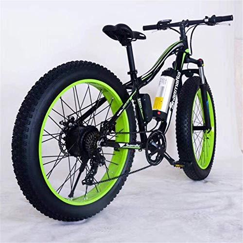 CLOTHES Bicicleta de montaña eléctrica, 26' Montaña de Bicicleta eléctrica de 36V 350W 10.4Ah extraíble de Iones de Litio Fat Tire Bike Nieve de Deportes Ciclismo Viajes Tráfico,Bicicleta