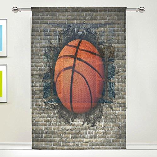 Use7 - Cortinas de Baloncesto Personalizadas de 55 x 78 cm, 1 Pieza de ladrillo para Pared Moderna, Panel de Tratamiento de Ventana para Sala de Estar, Dormitorio, decoración del hogar