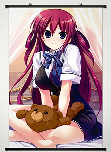 Grisaia no Kajitsu Wall Scroll Poster Fabric Painting for Anime Amane Suou 020 S