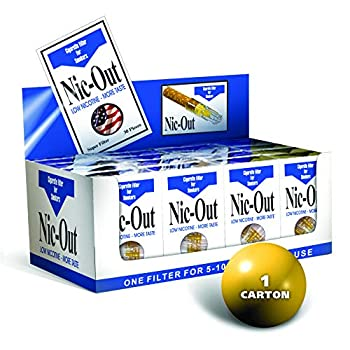 Nic-Out Cigarette Filters for Smokers 30 Filters - 20 Packs
