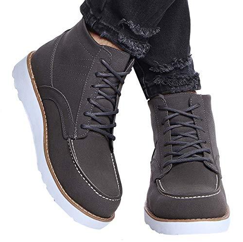 Leif Nelson Herren Schuhe Klassische Stiefel Freizeitschuhe Boots Elegante Winterschuhe Männer Sneakers LN161; 42, Grau