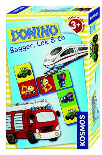 Kosmos 710811 - Gioco del Domino, Soggetto: Camioncini e ruspe [Importato dalla Germania]