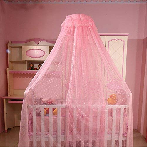 Balai Kids Bed Net Baby Crib Netting Toddler Mosquito Net Lace Mesh Curtains Bed Canopy for Girls Boys Reading Playing Tent Game House