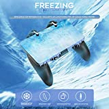 Ermorgen Rapid Cooling Gamepad Compatiable for PUBG/Call of Duty/Fotnie with Adjustable Trigger, Physical Semiconductor Radiator Freezing with Video Stand Fan, Support 4.7-6.5'' iPhone Android Phone