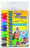 Kreul 90720 - Javana Texi Mäx Sunny, 12 Stifte in verschiedenen Farben, mit unempfindlicher Rundspitze ca. 2 - 4 mm, Stoffmalstifte für helle Stoffe, waschecht nach Fixierung