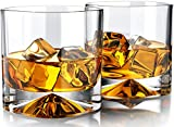 MOFADO Crystal Whiskey Glasses - Western/Square - 12oz (Set of 2) - Hand Blown Crystal - Thick...