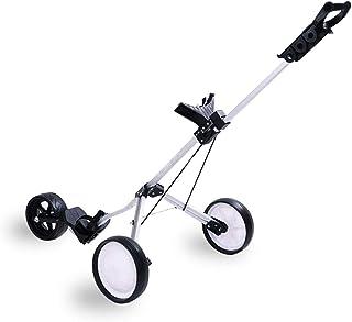 WeGuard 3 Wheel Push Pull Golf Cart Trolley Foot Brake One Second to Open & Close Folding Cart
