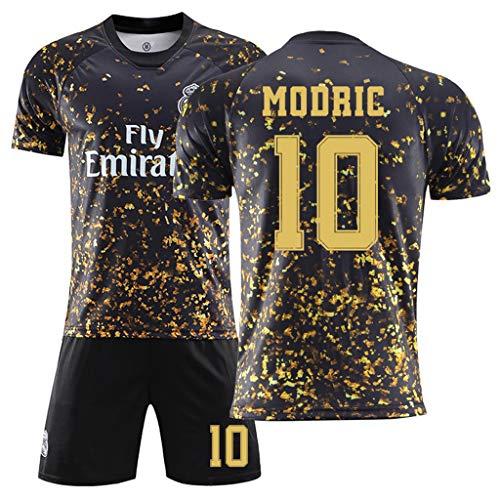 GHMEI 20 21 Fußballtrikot Trikots für Fußballspieler # 4 Ramos, 7 Hazard, 8 Kroos, 9 Benzema, 10 Modric, Uniform Trikots für Kinder/Erwachsene 2020 Trainingsset-#10-24
