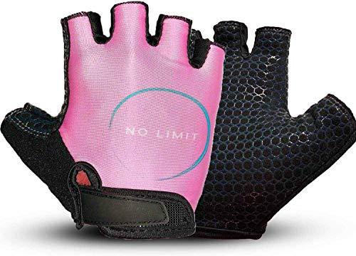 NoLimit® Fitness Handschuhe Trainingshandschuhe Sporthandschuhe für Damen u. Herren (Schwarz/Pink) Geeignet als Fahrradhandschuhe