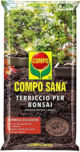 COMPO SANA Terriccio per Bonsai, Per una crescita omogenea delle piante, 5 l