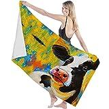 Toalla de baño Extra Grande,Toalla de baño Ligera,Toalla de baño Toalla de sábana,La Cabeza de la Vaca Graffiti Animal Print,para baño,niños
