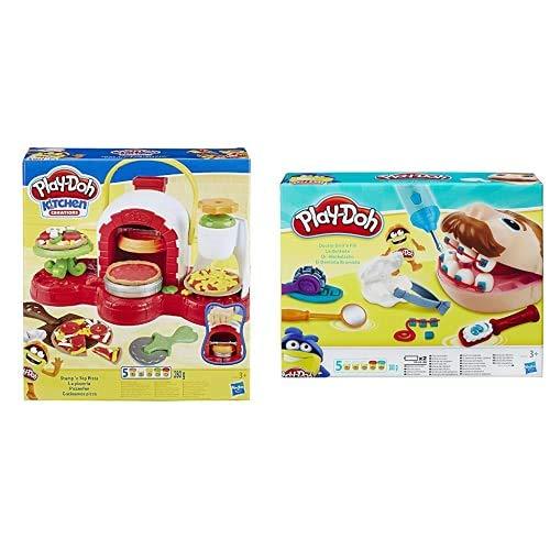 Hasbro Play-Doh Play-Doh-La Pizzeria (Playset con 5 Vasetti di Pasta da Modellare), Multicolore, E4576Eu4 & Play-Doh, Play-Doh Dottor Trapanino, B5520Eu4