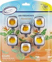 Hawaiian Scent Car Air Freshener Clip, 6 Car Freshener Vent Clips, 4ml Each, Long Lasting Air Freshener for Car, Up to 180...