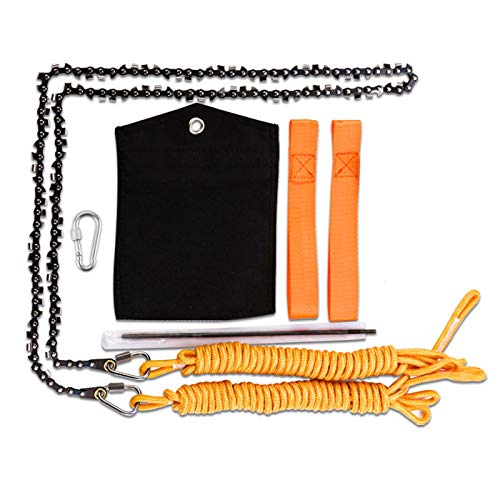 Loggers Art Gens Upgrade 48 Inch High Reach Tree Limb Hand Rope Saw with Two Ropes,62 Sharp Teeth Blades on Both Sides-Best Folding Pocket Chain Saw for Camping,Field Survival Gear,Hunting.