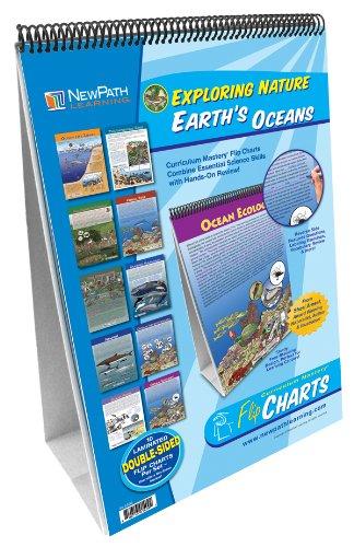 NewPath Learning 10 Piece Earth's Oceans Curriculum Mastery Flip Chart Set, Grade 5-10