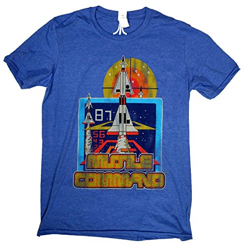 Blue Atari Missile Command Art T-shirt