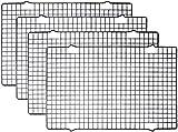 Tebery 4 Stück Edelstahl-Grillrost & Auskühlgitter, passt auf Backbleche für das...