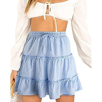 Amazon - 50% Off on Women's Summer Cute High Waist Ruffle Skirt Floral Print Swing Beach Mini Skirt