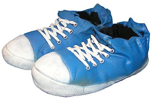 Pfüller Witzige Riesen Sneaker Hausschuhe gummiert Blau, EU 35-38