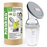 Haakaa Gen.3 Manual Breast Pump 8oz/250ml (Grey) - Silicone Milk Saver for Breastfeeding Mom Liquid Gold, Breast Milk Collector with Large Capacity