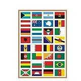 Sourcemall wasserdichte PVC International Country Flags Aufkleber, PVC Nation Flags Aufkleber für Gepäcketiketten