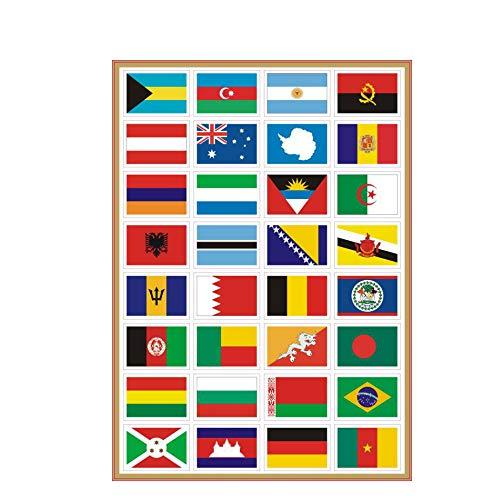 Sourcemall Waterdichte PVC Internationale Land Vlaggen Stickers, PVC Natie Vlaggen Stickers voor Bagage Motorfiets Kamer Etiketten Decoraties,7 Packs 224PCS in Totaal, Elke Vlag Sticker 1.87 x 1.3 Inches