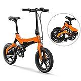 Lixada Bicicleta Eléctrica Plegable de 16 Pulgadas Power Assist Ciclomotor Bicicleta Eléctrica E-Bike 250W Motor y Frenos...