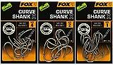 Fox Edges Curve Shank X - 10 Karpfenhaken, Größe:1