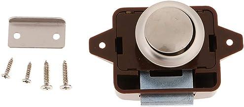 Sleutelloze drukknop vergrendeling, kastslot voor camper/camper/camper/caravan (bruin)