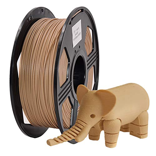 YOYI Filamenti per stampanti 3D,Pla filamenti 1 kg (2,2 lb), 100{26c00864240ae00431ab0b86910bb2ad74b2d491c56bf259f1bb01d2c43e4e02} materiale grezzo vergine, precisione dimensionale +/- 0,03 mm, ecologico£¨nero£© (PLA Wood)