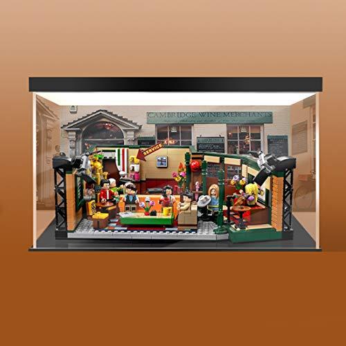 SEREIN Display Case Vitrine pour Lego Ideas Central Perk Friends, 3mm Anti Poussière avec LED, Présentoir Vitrine Acrylique Compatible avec Lego 21319 (Non Inclus Le Modèle)