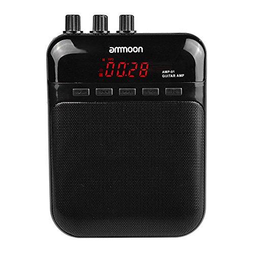 ammoon AMP -01 5W Gitarrenverstärker -Recorder-Lautsprecher TF-Karten-Slot Compact tragbare Multifunktions