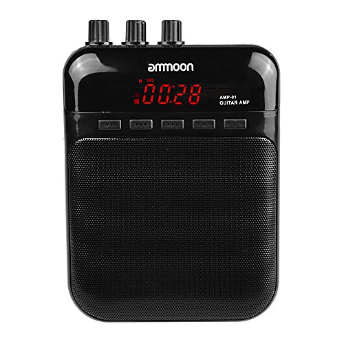 Aroma AG-03M 5W Portable Multifunction Guitar Amp Recorder Speaker Compact with TF Card Slot