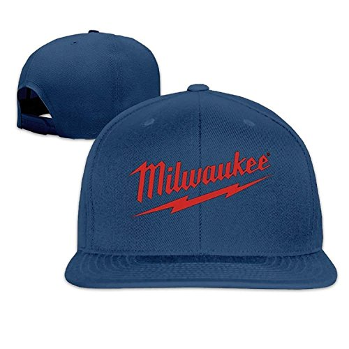HOP caps Power Tool Logo Milwaukee Father's Day Gift Unisex Unisex Adjustable Hipster Curved Visor Baseball Cap Polo Style Design Navy