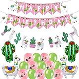 Llama Cactus Banner Garland Decoration For Happy Birthday Baby Shower Cino De Mayo Mexican Fiesta Centerpieces Party Graduation Supplies Hawaii Kids Llama Cactus Themed Party