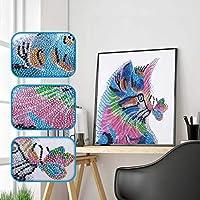 Zeroup 猫 鳥 虎の風景 全面貼り付けタイプ フルダイヤモンドアート カラービーズストーン絵画 モザイクアート 手芸キット